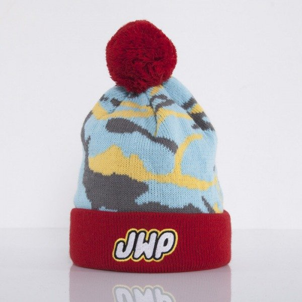 JWP czapka zimowa Camo red / blue / yellow