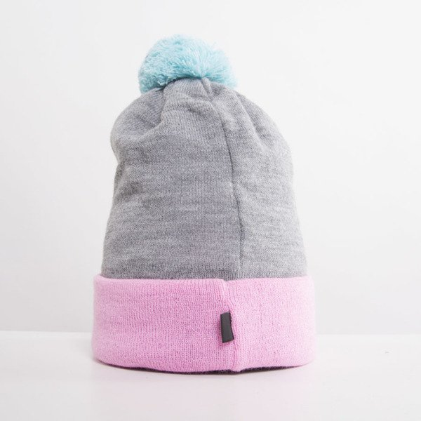 Jungmob czapka zimowa Hungry pink / grey / light blue