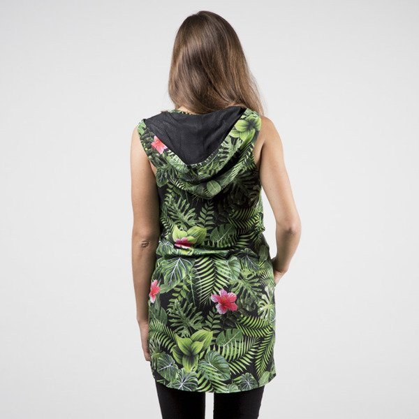 Jungmob sukienka Jungle Dress green / black