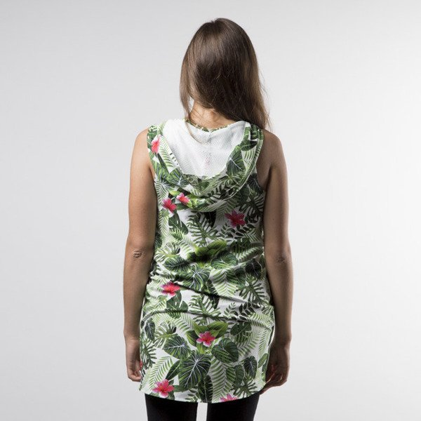 Jungmob sukienka Jungle Dress green / white