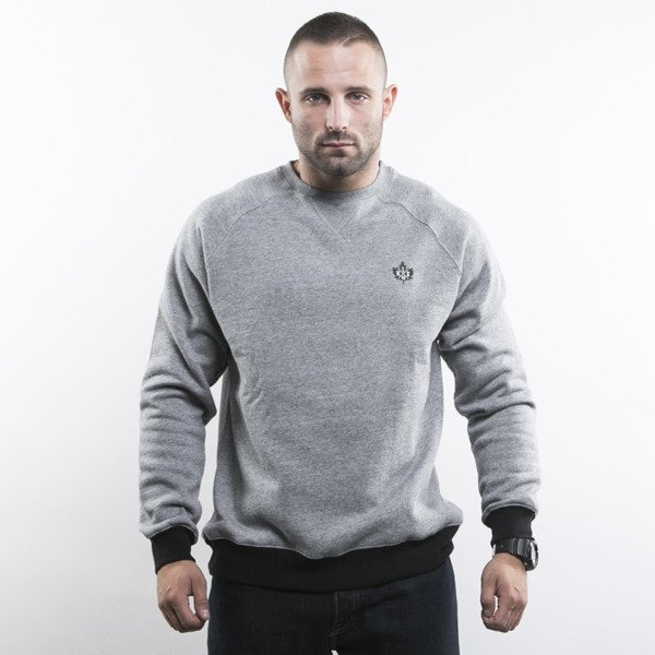 K1X bluza Authentic Crewneck grey heather / black (1153-2150/8004)