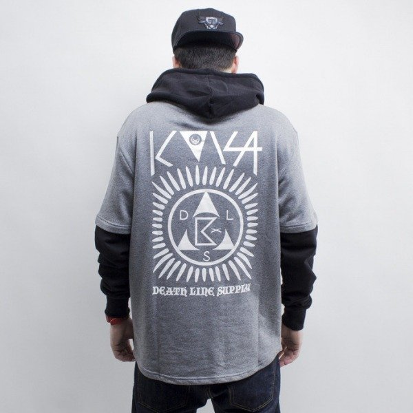 KOKA bluza Rebel hoody heather grey / black