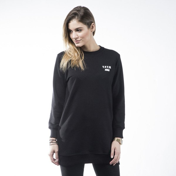 KOKA bluza crewneck Take From The Riche Long black WMNS