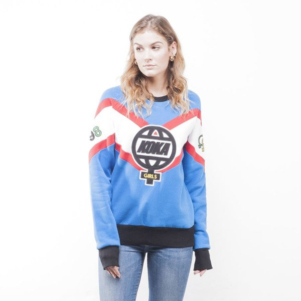 KOKA bluza crewneck The Globe blue / white WMNS