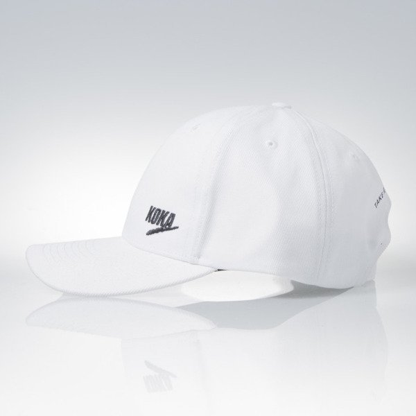 KOKA czapka strapback 6panel cap Take From The Rich Kickass white