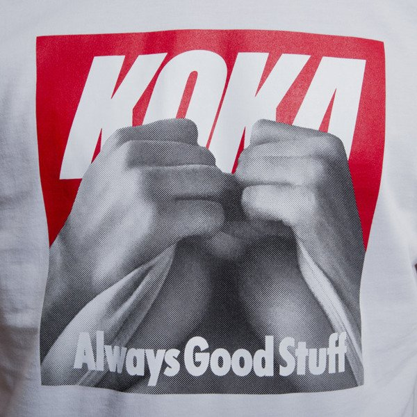 KOKA koszulka t-shirt Boobs white