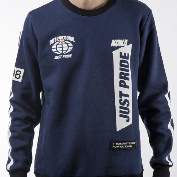 Koka bluza sweatshirt Supporter crewneck navy