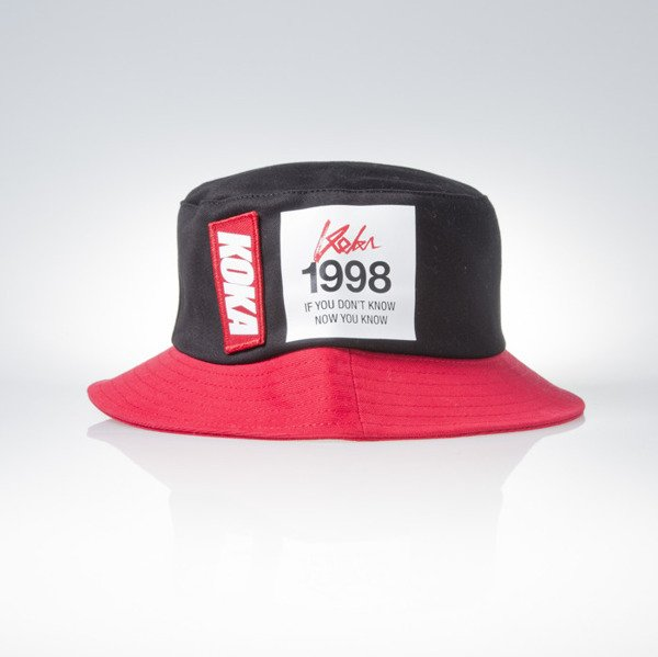Koka kapelusz bucket hat Marathon black / red