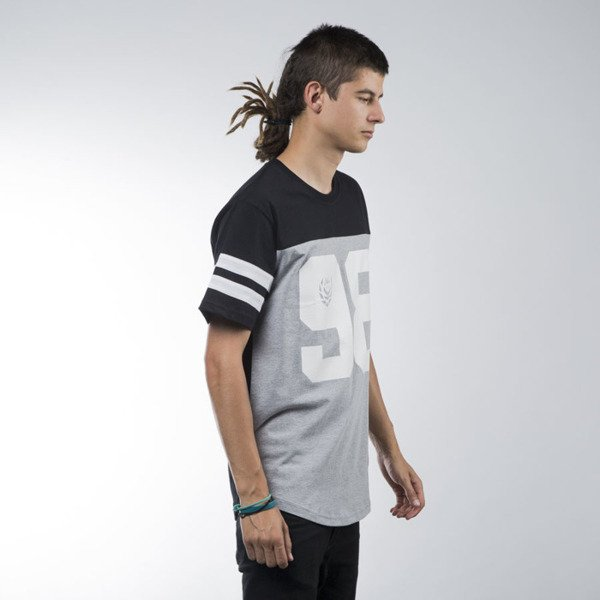 Koka koszulka t-shirt Hall black / heather grey