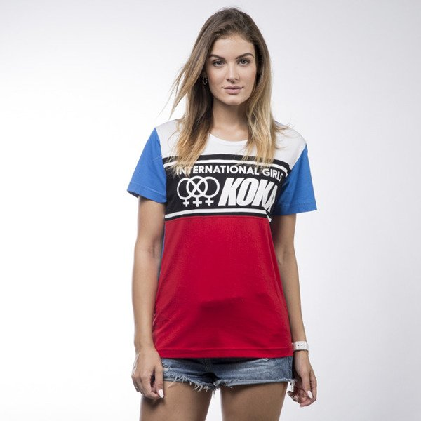 Koka koszulka t-shirt International red / white WMNS