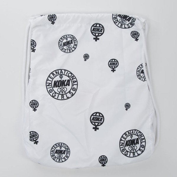 Koka worek na plecy Gadabout Girls Back Bag white