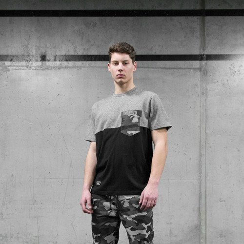 Koszulka Backyard Cartel t-shirt Black Wood heather grey / black