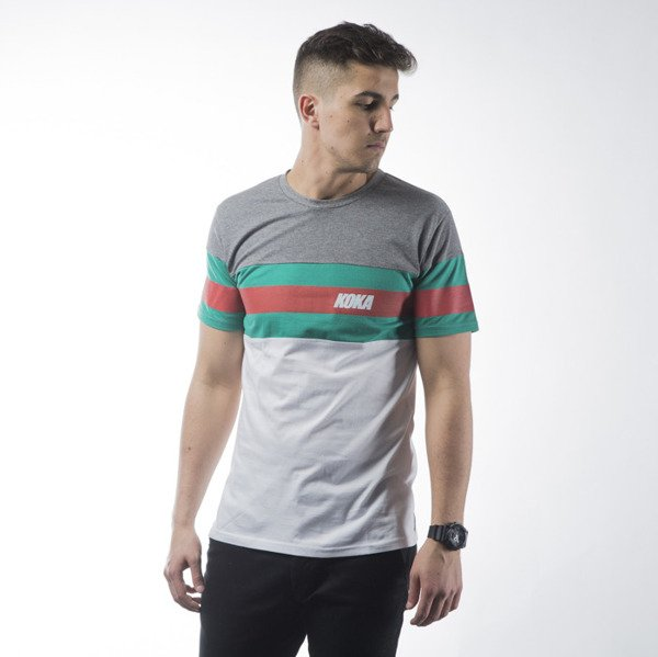 Koszulka Koka Stripes 1998 Ts grey / green / white