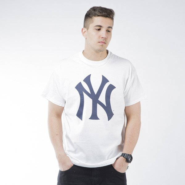 Koszulka Majestic Athletic Prism Large Logo Tee New York Yankees white (MNY1450WB)