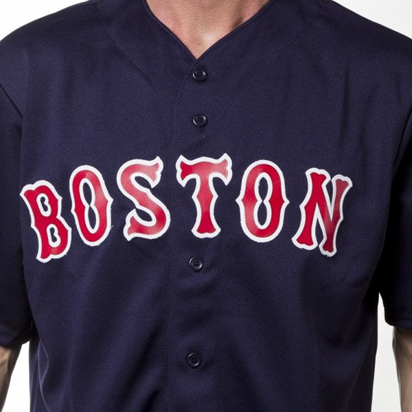 Koszulka Majestic Athletic T-shirt Jersey MLB Boston Replica navy