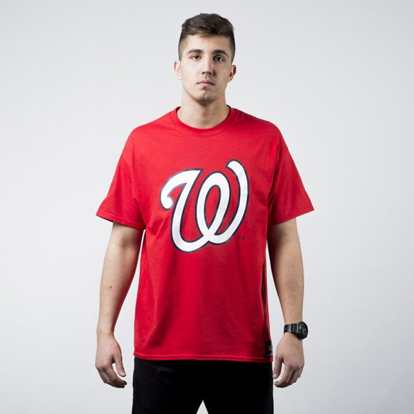 Koszulka Majestic Prism Large Logo Tee Washington Nationels red (MWN1450RP)