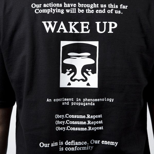 Koszulka Obey Wake Up Tee black