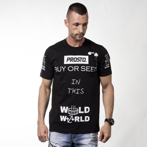 Koszulka Prosto P T-shirt Buy Or Seed black