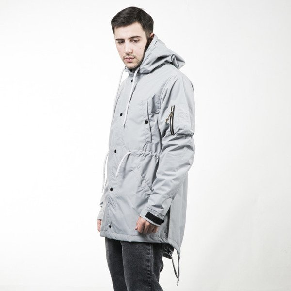 Kurtka Phenotype Lightgray Fishtail Parka light grey
