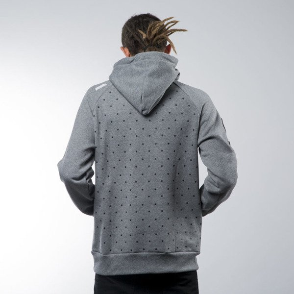 Luxx All bluza swetashirt Frontin hoody heather grey