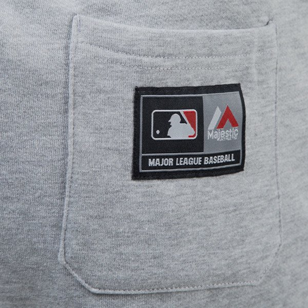 Majestic Athletic spodnie dresowe Filter Fashion Wrap Font Jogger Los Angeles Dodgers grey MLD2372E2