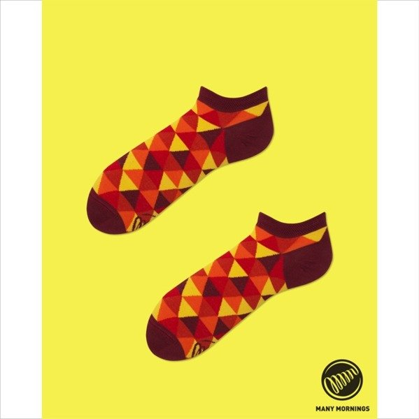 "Many Mornings skarpety ""stopki"" Flame Triangles Low multicolor"
