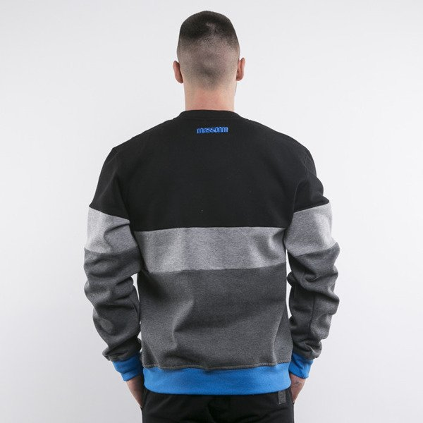 Mass Denim bluza Stripes crewneck black