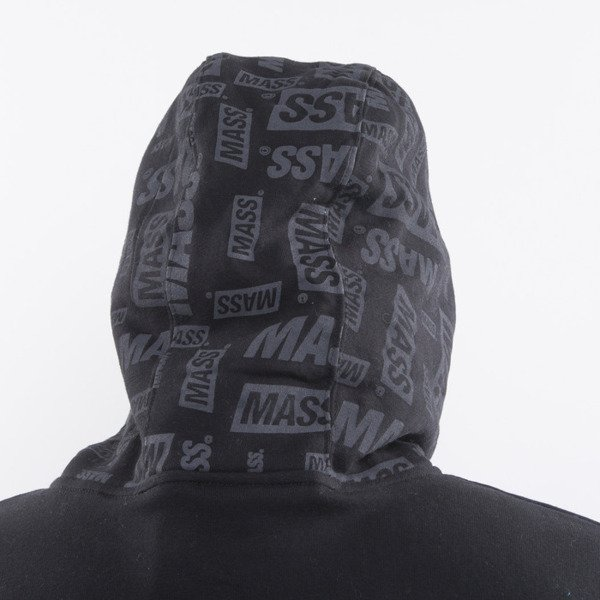 Mass Denim bluza The Logos Hoody Half Zip black