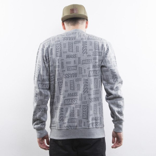 Mass Denim bluza The Logos crewneck light heather grey