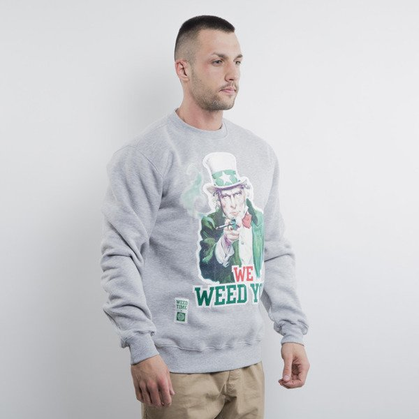 Mass Denim bluza We Weed You crewneck light heather grey