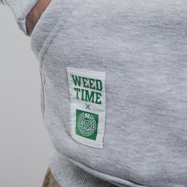 Mass Denim bluza Weed Time hoody light heather grey