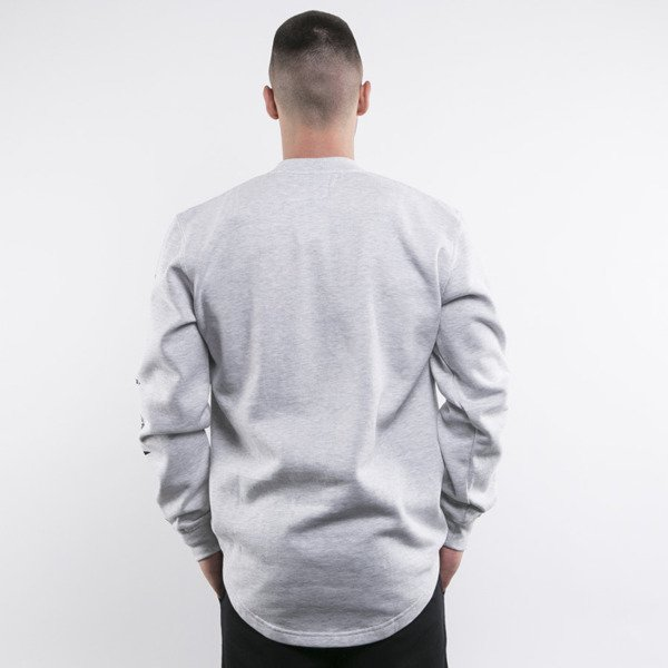 Mass Denim bluza crewneck Side long fit light heather grey BLAKK