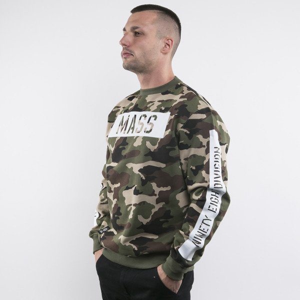 Mass Denim bluza crewneck Woodland camo