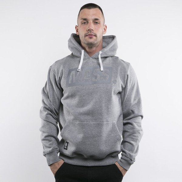 Mass Denim bluza hoody Three D heather grey