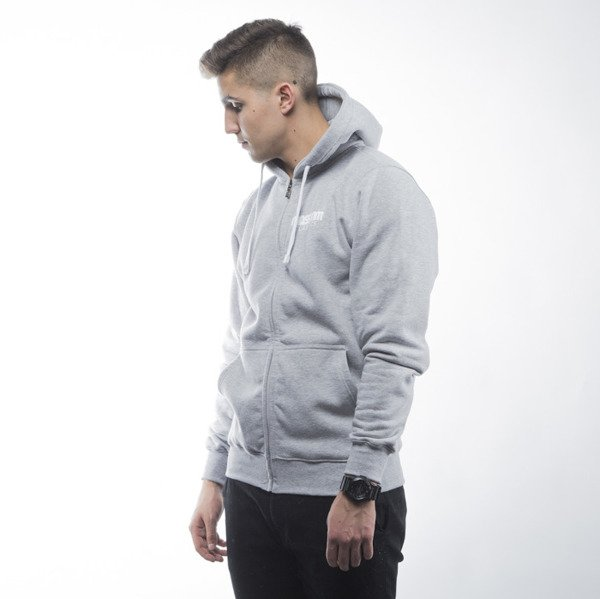Mass Denim bluza sweatshirt Classics zip hoody light heather grey