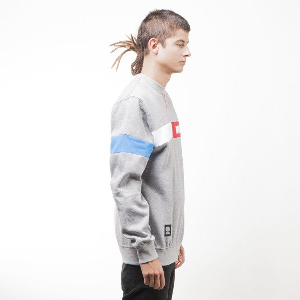 Mass Denim bluza sweatshirt Hello crewneck light heather grey