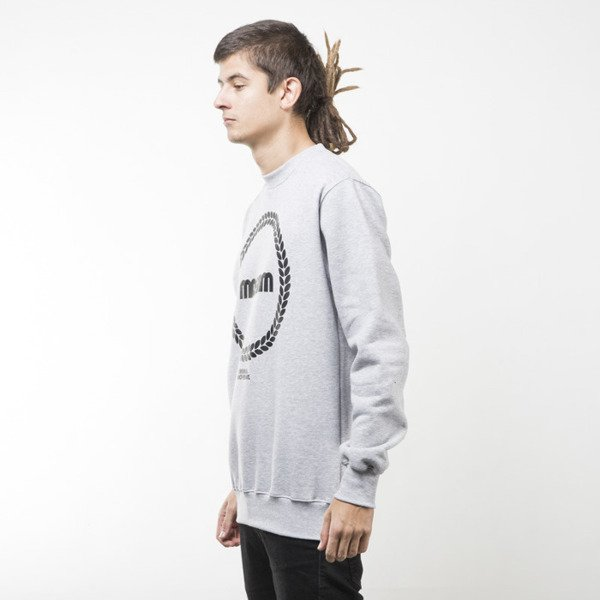 Mass Denim bluza sweatshirt Ring crewneck light heather grey