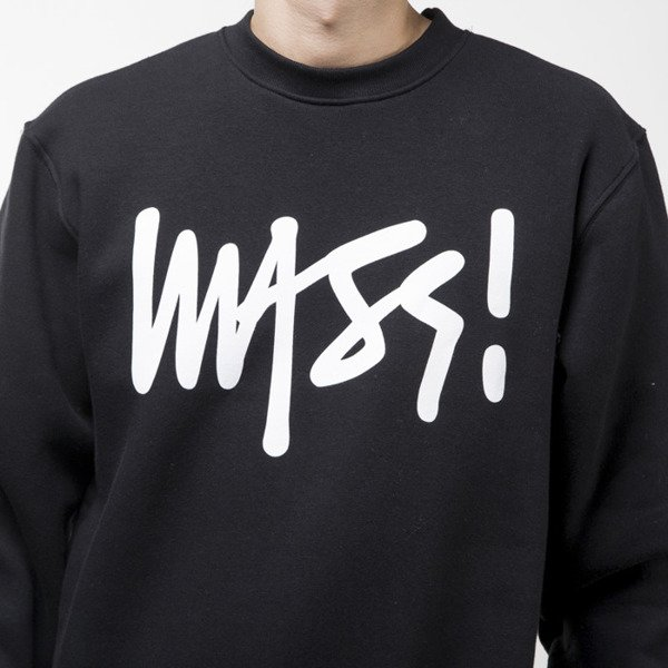 Mass Denim bluza sweatshirt Signature crewneck black