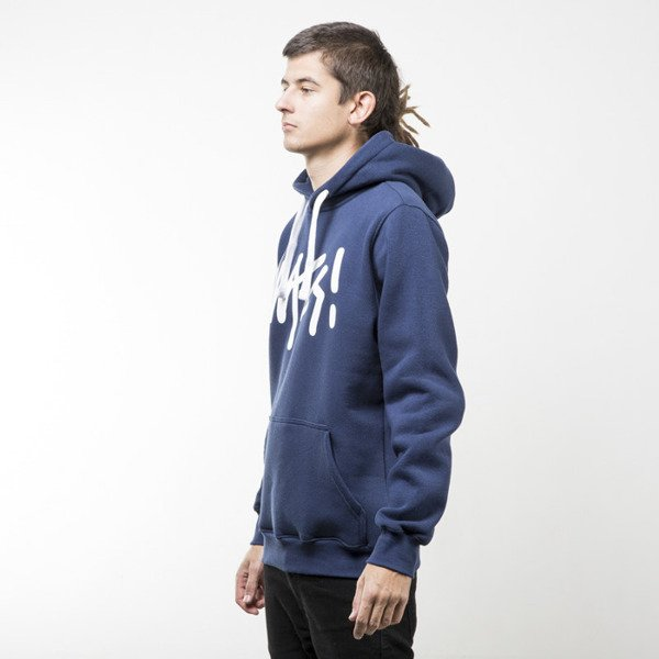 Mass Denim bluza sweatshirt Signature hoody navy