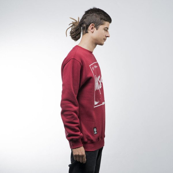Mass Denim bluza sweatshirt Stamp crewneck claret