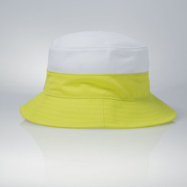 Mass Denim kapelusz bucket hat Pocket Base white / toxic green