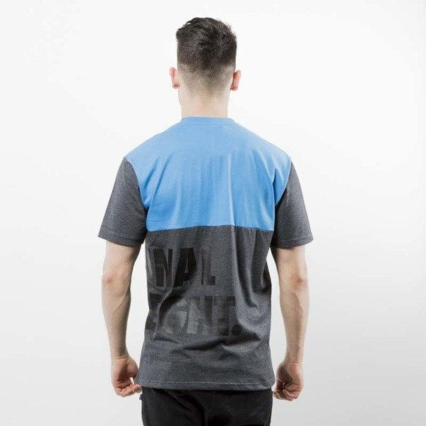 Mass Denim koszulka T-shirt Baller blue / dark heather grey SS 2017