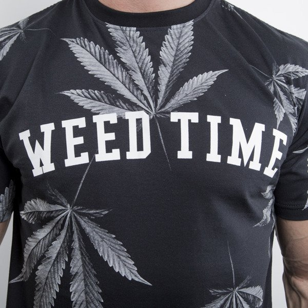 Mass Denim koszulka t-shirt Blvck Weed black