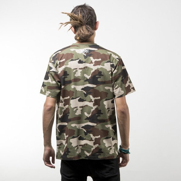 Mass Denim koszulka t-shirt Signature woodland camo