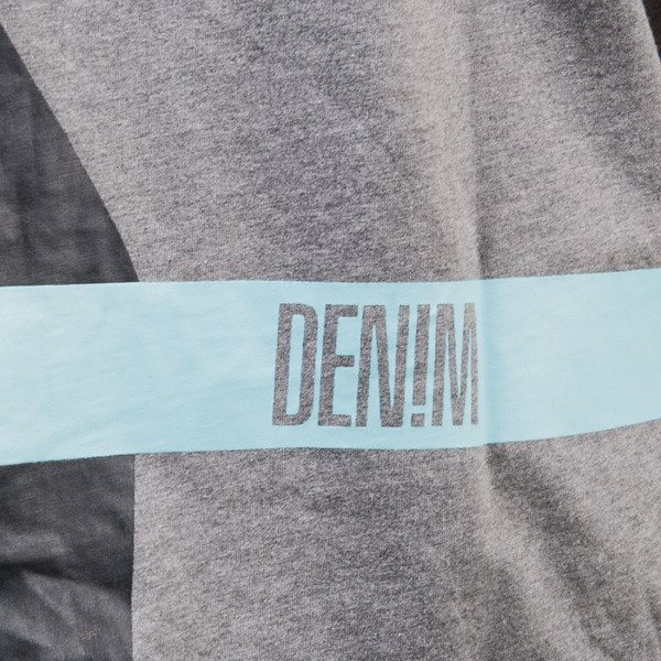 Mass Denim koszulka t-shirt Split dark heather grey
