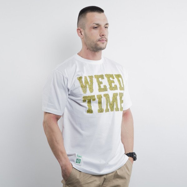 Mass Denim koszulka t-shirt Weed Time white