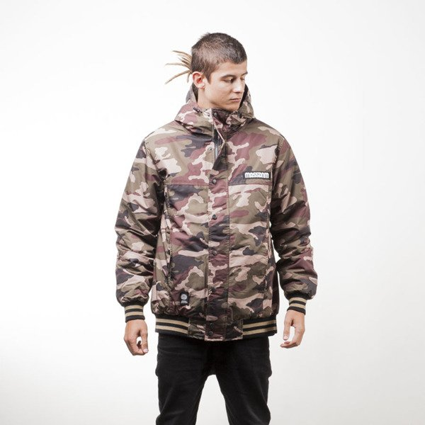 Mass Denim kurtka zimowa winter jacket District woodland camo