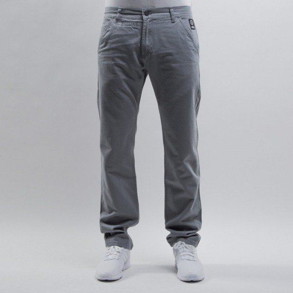 Mass Denim spodnie chino Base straight fit grey