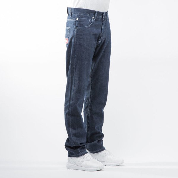 Mass Denim spodnie jeans Hello regular fit dark blue
