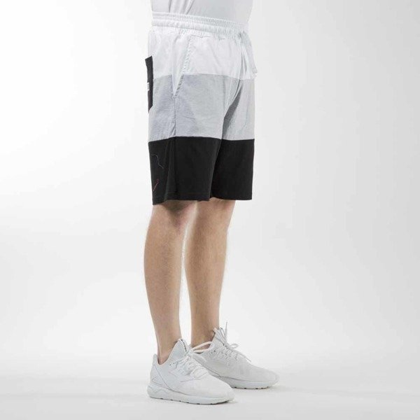 Mass Denim szorty sweatshorts Horizon light heather grey / black